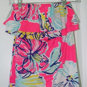 Lilly Pulitzer Strapless Ruffle Top (XS)